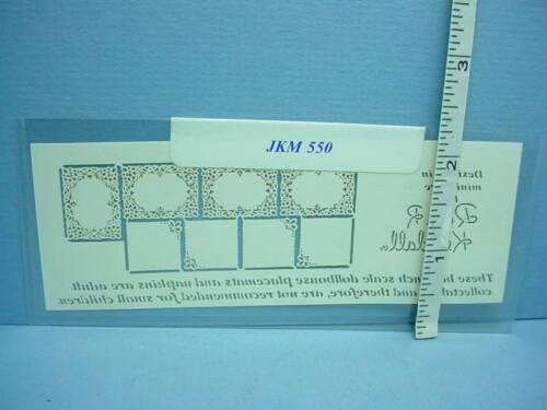 """Dollhouse Miniature Placemats /& Naplkins 1//2/"""" Scale #JKM550 1:24"""