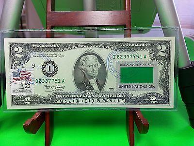 $2 Collectible Uncirculated Banknote Flag  Libyan Arab Jamahiriya