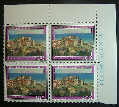 Europa Clever 1988 Italien Tourismus Castiglion Der Wehr 400 Livre Vierzeiler Mnh Klar Und Unverwechselbar