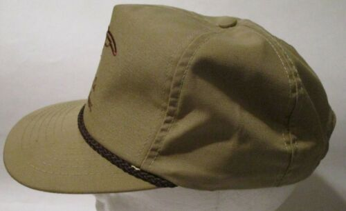 Cattleman Assoc ACA Tan Beige Hat Cap Adjustable Leather Strap USA Cleveland Co