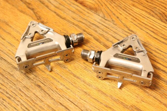 Shimano 600 EX Ultegra Tri-color PD-6400 Vintage Aero Road Pedals Made in Japan