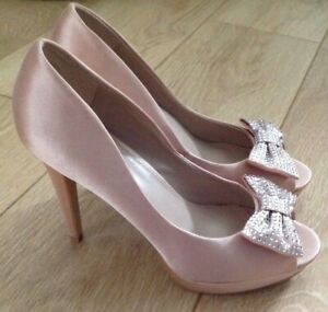 pale pink satin shoes
