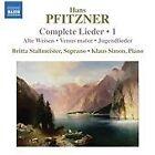 Hans Pfitzner - Pfitzner: Complete Lieder, Vol. 1 (2013)