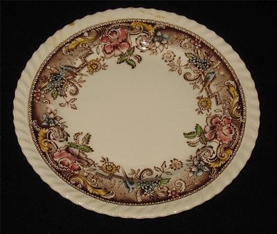 "Johnson Brothers DEVONSHIRE, Brown Multicolor, Gadroon Edge - 6 3/8"" Bread Plate"