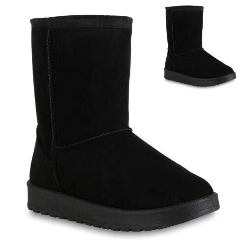 Damen Stiefel Schuhe Schlupfstiefel Profil Sohle 820343 Trendy Neu