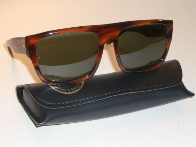 31c1d2c985 VINTAGE BAUSCH   LOMB RAY BAN SHINY MOCK TORTOISE G15 DRIFTER SUNGLASSES  w CASE