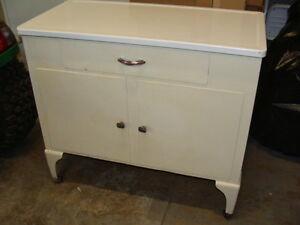 Image Is Loading Vintage Antique Metal Enamel Top Medical Cabinet