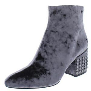 Kendall-Kylie-Womens-Blythe-2-Gray-Ankle-Boots-Shoes-8-Medium-B-M-BHFO-7813