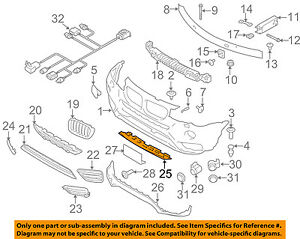 bmw oem 15 17 x3 front bumper lower trim panel 51117413496 ebay rh ebay com bmw e90 engine parts diagram bmw e46 engine parts diagram