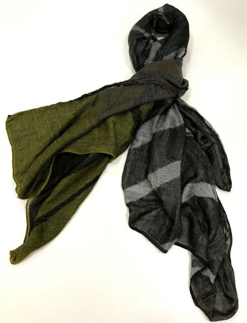 """Paul Smith HUGE MENS Scarf 55 Inches Square """"JAQUERED SQUARE"""" Made in Italy"""