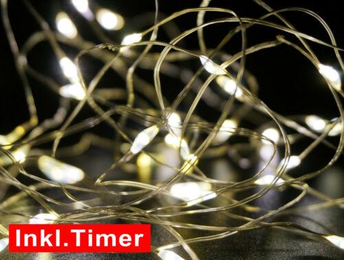 LED Lichterkette 80 Lichter /& Zeitschaltuhr Warmweiß Weihnachten Outdoor IP65
