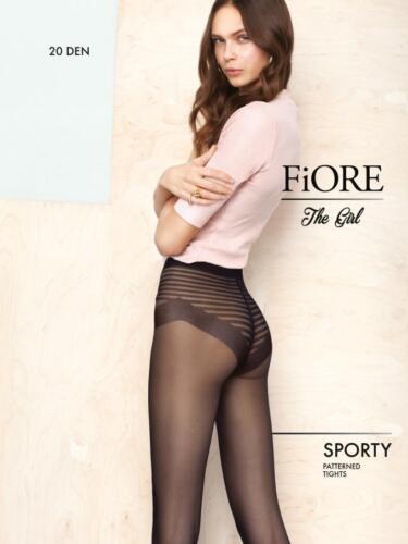 Fiore Sporty Classic Striped Fantasy Bikini Brief Patterned Tights 20 Denier
