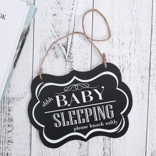 Baby Sleeping Please Knock Softly Baby Sleeping Door Hanging Decorative Sign B