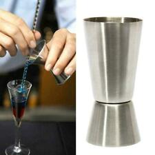 15//30ml Measure Cup Jigger Single Double Shot Short Drink Spirit Cocktail P L0V8