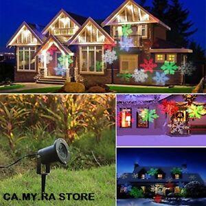 Proiettore Luci Natalizie Per Esterno Ebay.Proiettore Laser Riflettore Luci Di Natale Addobbo Per Esterno Sensore Notte Ebay