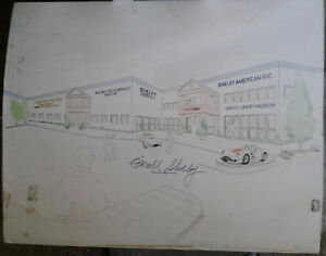Shelby-American-6755-Speedway-Architecture-Drawings-Signed-by-Carroll-Shelby