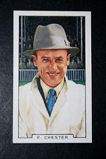 Cricket Test match Arbitre Fred Chester vintage années 1930 carte # très bon état