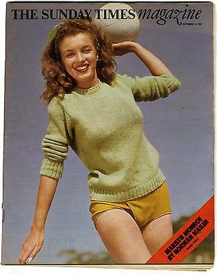 SUNDAY TIMES Magazine Sep 16 1973 Gore Vidal Colin Milburn Marilyn Monroe