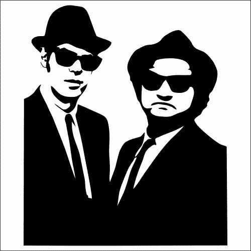 TWO The Blues Brothers Soul Man Vinyl Decal Sticker 2 Pack