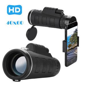 40X60-Zoom-Optical-HD-Lens-Monocular-Telescope-Tripod-Clip-For-Smart-Phone-U-S