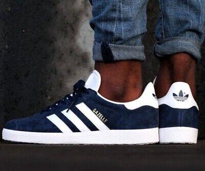 adidas Originals Gazelle Navy Blue White GOLD BB5478 Mens US 7.5 Shoes Sneakers 889768226378 | eBay