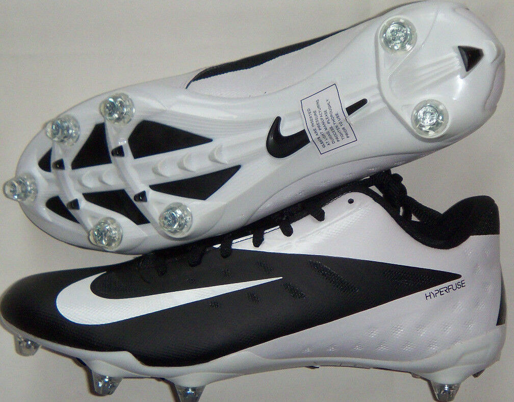 New Mens Nike Vapor Talon Elite D Low Detachable Cleats Black/White Retail 160