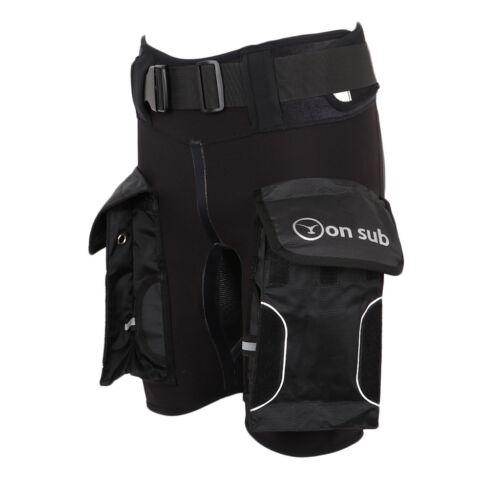 Scuba Diving Snorkeling Spearfishing Neoprene Wetsuit Shorts Pants /& Pockets