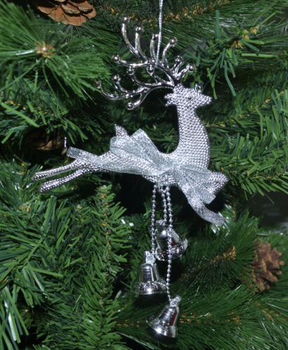 2x Décorations de Noël tieraufhänger Argent Rennes Cintre Advent Bijoux Animal