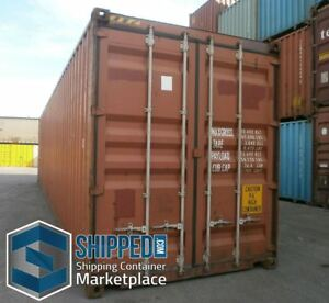 New Used Shipping Containers For Sale At Shipped Com >> Details About Shipping Container Delivery Miami Fl Used 40ft High Cube Secure Home Storage