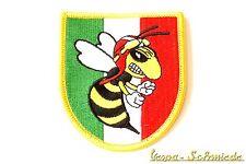 "VESPA Aufnäher ""Italy Wappen / Böse Wespe"" - Italia Italien V50 PX Piaggio Patch"