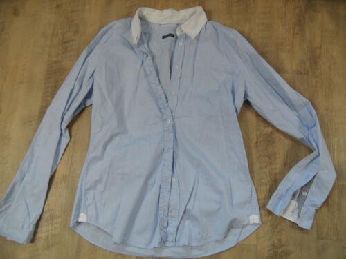 Schöne 38 O M Hellblau Marc Gr Top Polo Bluse Rüschenreihe Kos418 8TExqdwPq
