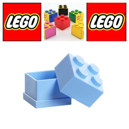 Lego mini box 4 azzurra scatola mattoncino contenitore per alimenti bomboniera