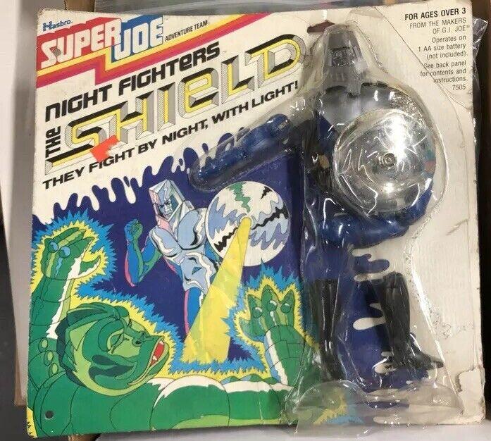 VTG 1970s Hasbro Super Joe THE  SHIELD Night Fighters Figure MOC Gi Joe Figures  dessins exclusifs
