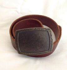 """Adriano Goldschmied"" Brown Leather Belt, Size 30, Made In USA"