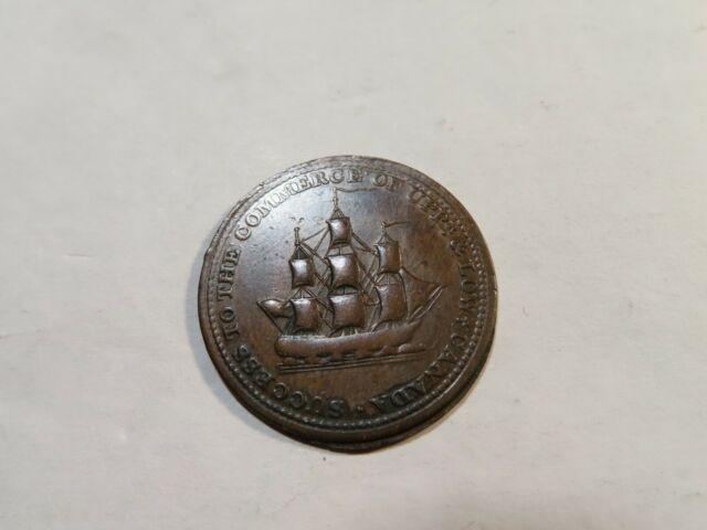 Y41 Canada 1812 Isaac Brock 1/2 Penny Token BR-723