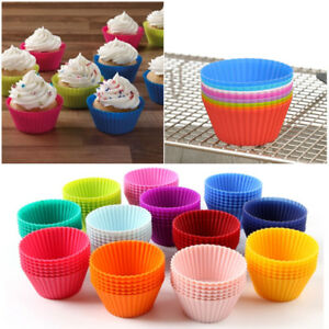 NEU-12-x-Muffin-Formchen-Muffinform-Back-Formchen-Silikon-Cup-Cake-Kuchen-Set
