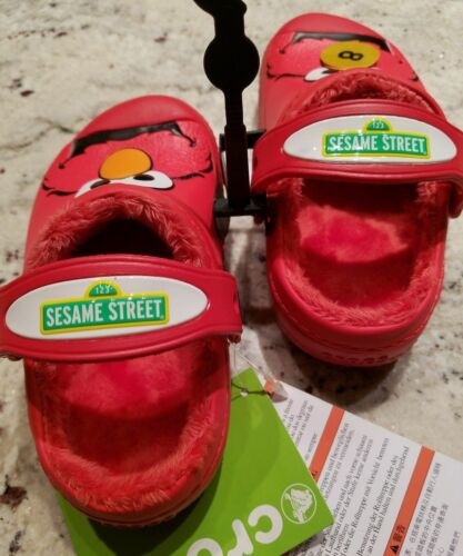 NWT Creative Crocs Seasame Street Elmo Boys//Girls Lined Clogs Red SELECT SIZE