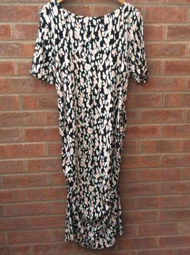 jurk Jersey Ida 16 5 Isabella 5052168241547 midi Vk Oliver Luipaardprint Ruched Zwangerschaps xaqOt0q