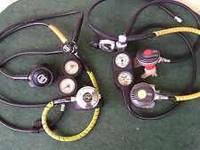 Scuba Diving Gear Regulator Lot Oceanic Sherwood Dacor Octopus Tusa Gauges