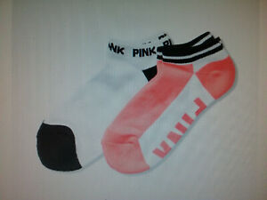 Victoria/'s Secret Pink Ultimate Low Show Socks Ruby Red /& Gray *New with Tags*