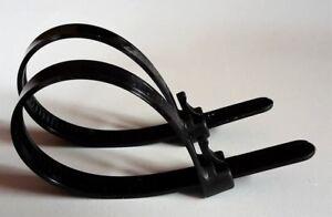 Kabelbinder wiederverwendbar in verschiedenen Größen weiß bis  8 kg