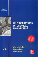 Unit Operations of Chemical Engineering by Warren L. McCabe, Julian C. Smith and Peter Harriott (2004, Hardcover, Revised)