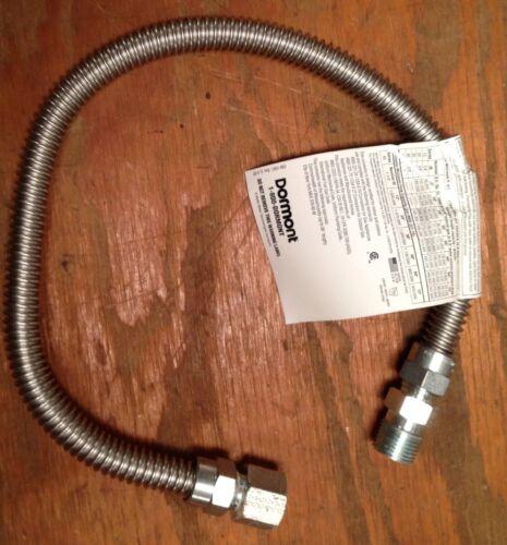 "1//2/""  X 60/"" Dormont Stainless Steel Propane Natural Gas Flex Connector"