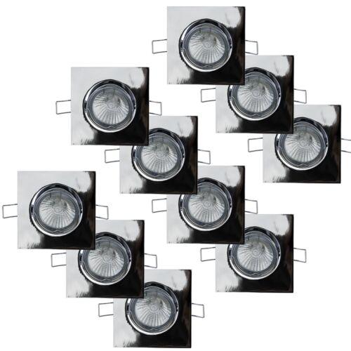 Metallgehäuse Chrom glänzend GU10 Einbauspot Einbaustrahler 230V schwenkbar