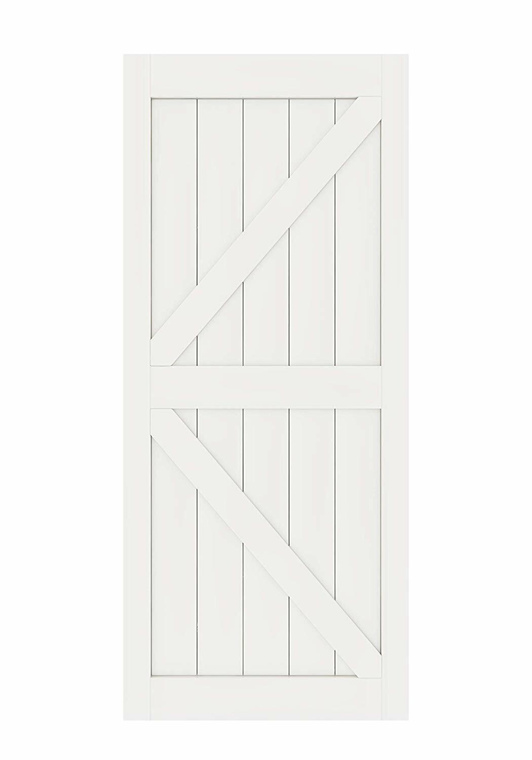 DIYHD Assembled Pine Knotty Two-Side Arrow Shape Barn Wood Door Slab(Unfinished)