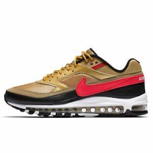 Nike Air Max 97 BW METALLIC GOLD BULLET BLACK RED WHITE