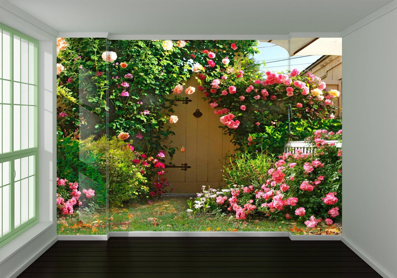 3D Blaumen Garten Wiese 8093 Tapete Wandgemälde Tapeten Bild Familie DE Lemon