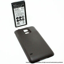 6500mAh Extended Battery for Samsung Galaxy S5 SV I9600 Black Cover