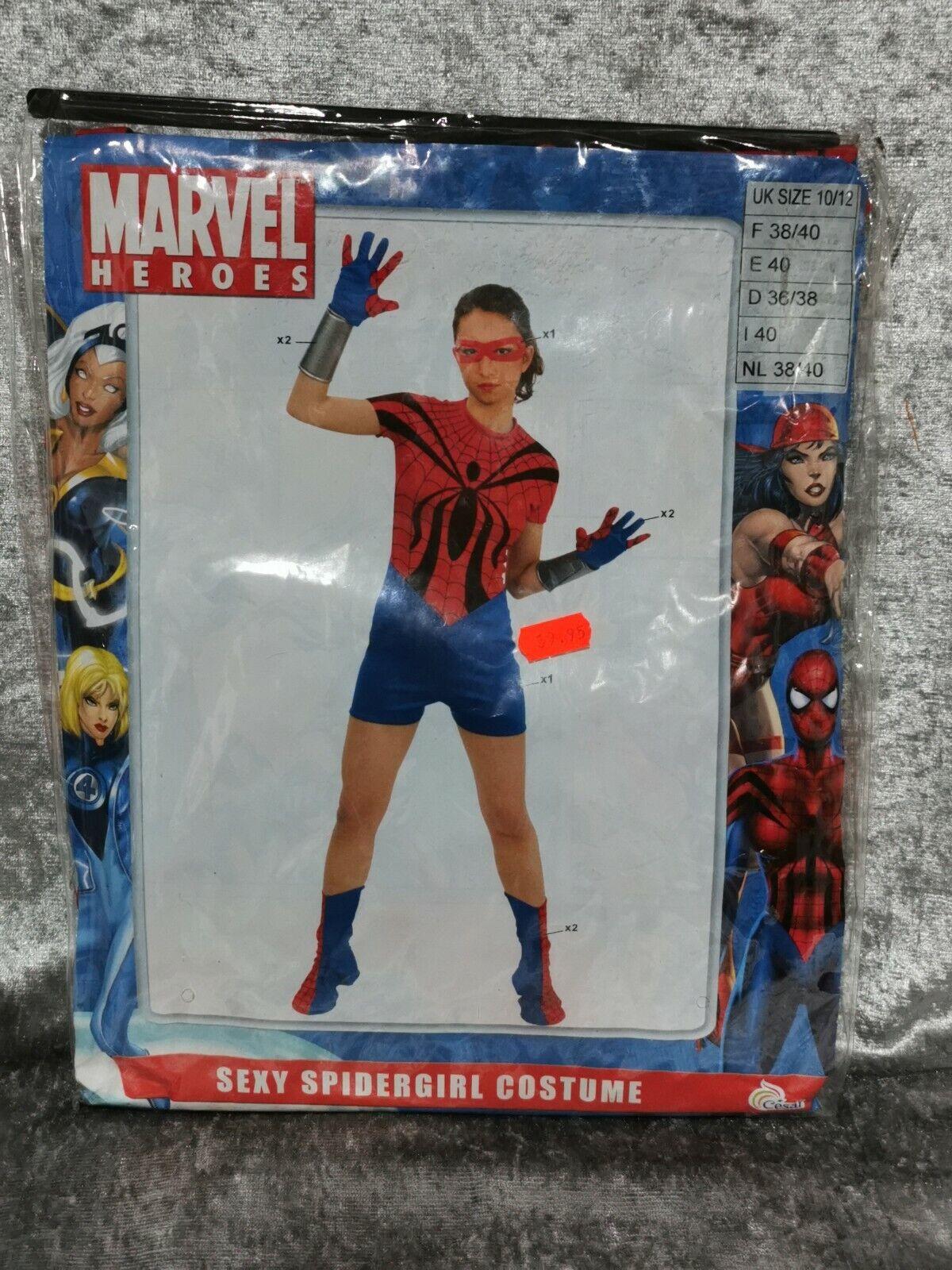 B3 marvels spiderman spidergirl costume fancy dress cosplay adults UK 10-12