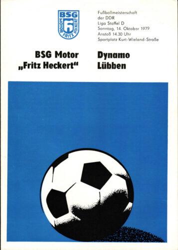 14.10.1979 DDR-Liga 79/80 BSG Motor Fritz Heckert Dynamo Lübben